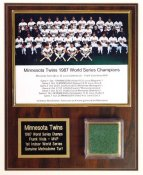 Twins 1987 World Series Champs - Metrodome Turf Plaque