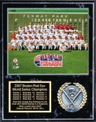 Boston 2007 Team Sitdown  World Series Plaque 12x15 Black Marble Red Sox