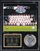 Phillies 2008 Champs Plaque Black Marble 12x15 World Series Team