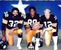 Terry Bradshaw, Lynn Swann and Franco Harris Super Bowl MVP's Pittsburgh Steelers 8x10 Photo