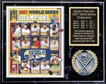 Boston 2007 Champs Plaque 12x15 Black Marble Style Red Sox World Series Team