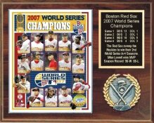 Boston 2007 Champs Plaque 12x15 Walnut Style Red Sox World Series Team