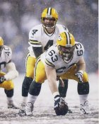 Scott Wells & Brett Favre Green Bay Packers 8X10 Photo