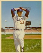 Don Drysdale Original Stadium Souvenir With Stamped Signature Dodgers 8X10 Photo