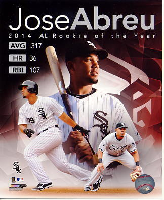 Jose Abreu 2014 R.O.Y. Chicago White Sox SATIN 8x10 Photo