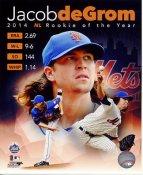 Jacob deGrom R.O.Y New York Mets SATIN 8X10 Photo