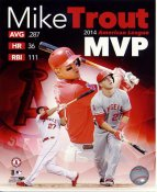 Mike Trout 2014 American League MVP Anaheim Angels SATIN 8X10 Photo