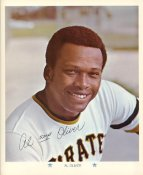 Al Oliver Original Stadium Souvenir With Stamped Signature Pirates 1971 Arco MLB 8X10 Photo