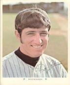 Fritz Peterson Original Stadium Souvenir With Stamped Signature Yankees 1971 Arco MLB 8X10 Photo