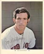 Bob Montgomery Original Stadium Souvenir with Stamped Signature Red Sox Slight Crease1971 ARCO 8x10 Photo