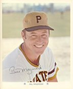 Bill Mazeroski Original Stadium Souvenir With Stamped Signature Pirates 1971 Arco MLB 8X10 Photo