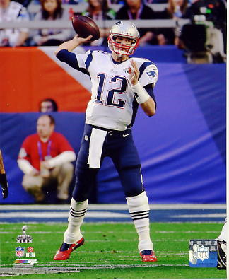Tom Brady Super Bowl 49 New England Patriots SATIN 8X10 Photo