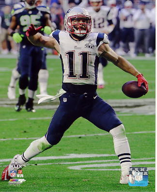 Julian Edelman Super Bowl 49 TD New England Patriots SATIN 8X10 Photo