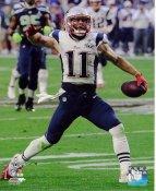 Julian Edelman Super Bowl 49 TD New England Patriots SATIN 8X10 Photo