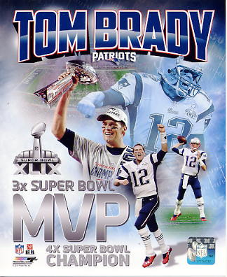 Tom Brady Super Bowl 49 MVP New England Patriots SATIN 8X10 Photo