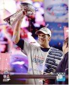 Tom Brady With Lombardi Trophy Super Bowl 49 New England Patriots SATIN 8X10 Photo