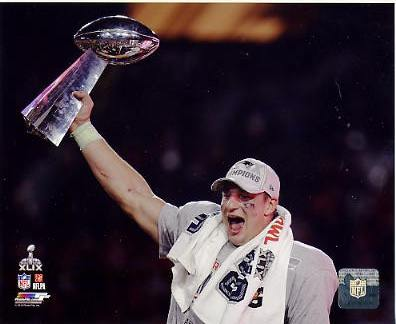 Rob Gronkowski Super Bowl 49 New England Patriots SATIN 8X10 Photo