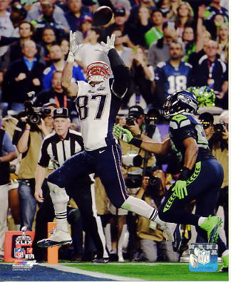 Rob Gronkowski Super Bowl 49 TD New England Patriots SATIN 8X10 Photo