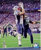 Rob Gronkowski Super Bowl 49 TD New England Patriots SATIN 8X10 Photo LIMITED STOCK