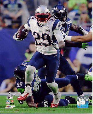 LeGarrette Blount Super Bowl 49 New England Patriots SATIN 8X10 Photo