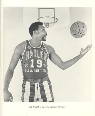 Mel Davis Harlem Globetrotters Original Press Photo / Wire Photo 8x10