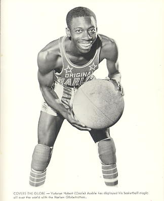 Hubert Ausbie (Ozzie) Harlem Globetrotters Original Press Photo / Wire Photo 8x10