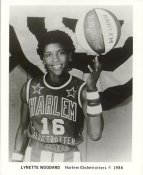 Lynette Woodard Harlem Globetrotters (Crease in the Middle) Photographer Stamp on Back Original Press Photo / Wire Photo 8x10