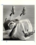 Orel Hershiser LA Dodgers 1989 Original Press Photo / Wire Photo w/ Caption Info Sheet on Back 8x10