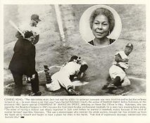 Jackie Robinson Brooklyn Dodgers From HBO Special Champions Of American Sport Original Press Photo / Wire Photo 8x10