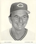 John McNamara Cincinnati Reds Original Press Photo / Wire Photo 8x10