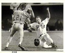 Franklin Stubbs LA Dodgers & Kevin Elster Original Press Photo / Wire Photo 8x10