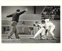 Steve Sax LA Dodgers & Gerald Young Astros 1988 Original Press Photo / Wire Photo w/ Caption Info Sheet on Back  8x10