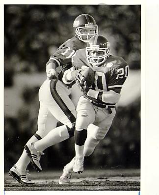 Phil Simms & Joe Morris New York Giants Original Press Photo / Wire Photo w/ Photographer Stamp on Back 8x10