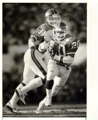 Phil Simms & Joe Morris New York Giants Original Press Photo / Wire Photo w/ Photographer Stamp on Back 8x10