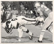 Kermit Alexander San Francisco 49ers & Billy Truax LA Rams Original Press Photo / Wire Photo 8x10