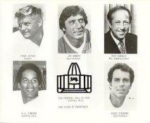 Frank Gatski, Joe Namath, Pete Rozelle, O.J. Simpson, Roger Staubach 1985 Hall Of Fame Original Press Photo / Wire Photo 8x10