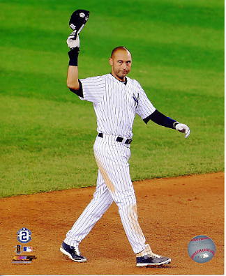 Derek Jeter Final Game at Yankee Stadium 9/25/14 New York Yankees LIMITED STOCK SATIN 8X10 Photo