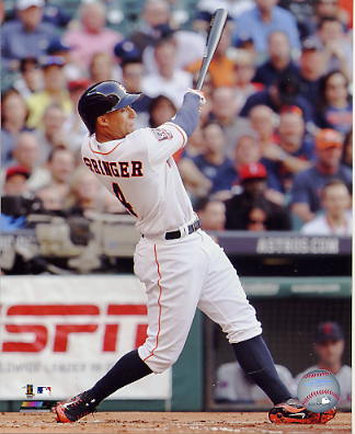 George Springer Houston Astros SATIN 8X10 Photo