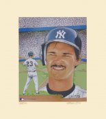 Don Mattingly New York Yankees NUMBERED LIMITED EDITION Susan Rini 12x14 Art Lithograph