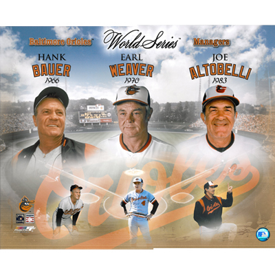 Hank Bauer, Earl Weaver & Joe Altobelli Baltimore Orioles Managers LIMITED STOCK 16x20 Photo
