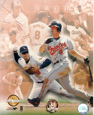Cal Ripken Jr. Baltimore Orioles Numbered Limited Edition 8X10 Photo