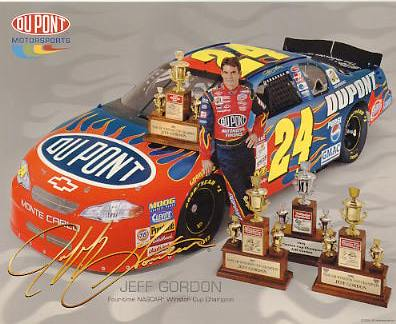 Jeff Gordon 2001 Winston Cup Champion Four Time Winner LIMITED STOCK 8X10 Photo