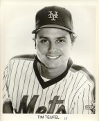 Tim Teufel New York Mets B&W LIMITED STOCK 8X10 Photo