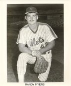 Randy Myers New York Mets B&W LIMITED STOCK 8X10 Photo