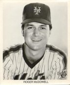 Roger McDowell New York Mets B&W LIMITED STOCK 8X10 Photo