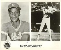 Darryl Strawberry New York Mets B&W LIMITED STOCK 8X10 Photo