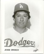 Jesse Orosco LA Dodgers B&W LIMITED STOCK 8X10 Photo