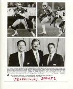 Joe Montana, Jerry Rice Monday Night Football w/ Frank Gifford, Dan Dierdorf & Al Michaels Sept. 10, 1990 San Francisco 49ers Press Photo / Wire Photo 7X9