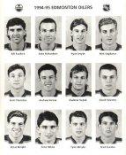 Bill Ranford, Luke Richardson, Ryan Smyth, Scott Thornton, Andrew Verner, Vladimir Vujtek, Doug Weight, Tyler Wright Edmonton Oilers 1994/95 Press Photo / Wire Photo 8x10