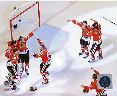Blackhawks 2015 Stanley Cup Finals Celebration Chicago SATIN 8x10 Photo